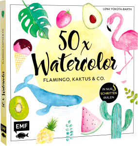50xWatercolor Illustration berriesandbuttercup Lena Yokota-Barth Illustration surface pattern design workshops watercolor
