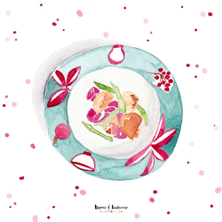 illustration product design surface pattern design greeting cards grußkarten lena yokota-barth berriesandbuttercup watercolor aquarelle kuchen cake love friendship everyday