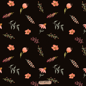 surfacepattern design lenayokota lena yokota surfacepatterndesign pattern muster floralpattern floral flower blumen black illustration homedecor tabletop stationery papergoods wrappingpaper