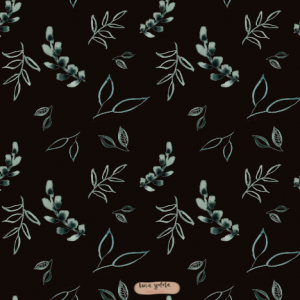 surfacepatterndesign surfacepattern design lenayokota lena yokota floral greenery black green leaves muster pattern wrappingpaper homedecor stationery tabletop