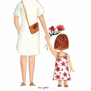 illustration children kinder kids family floral lenayokota design accessories accessoires geschenkartikel giftware