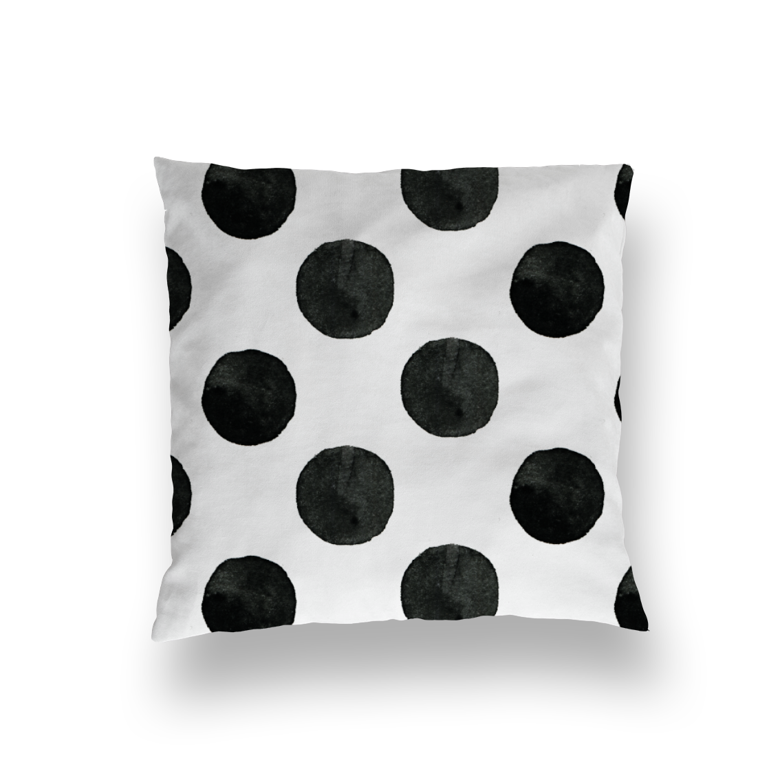 surface pattern design dots black and white blackandwhite design homedecor heimtextilien kissen decken bettwäsche punkte lenayokota lena yokota illustration