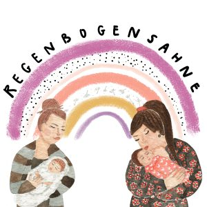 illustration menschen people regenbogensahne lenayokota design coverdesign cover mumlife sternenkinder commission