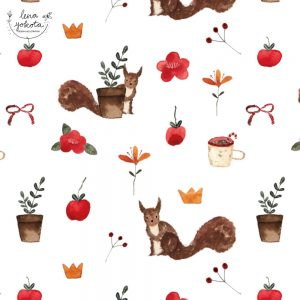 Lena Yokota Barth illustration pattern patterndesign surfacepattern floral fruits animal cozy cosy lenayokota